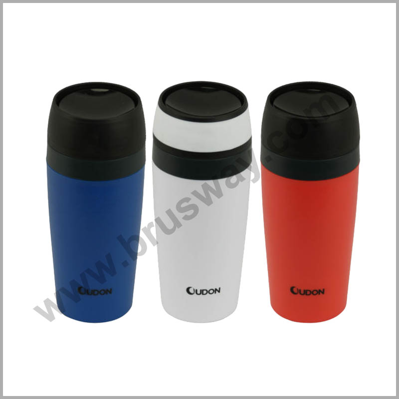 400ml Double Wall Plastic Travel Mug BW-00117