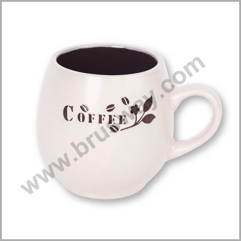 Customized printing ceramic mugs with print BW-00108