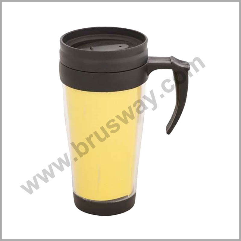 Double wall cheap plastic insulated travel mug bottle BW-00115