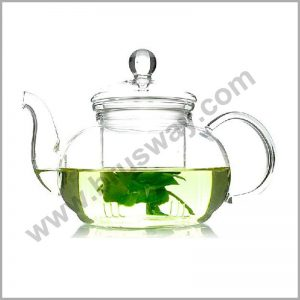 Flower Coffee Glass Tea Pot Large Blooming Chinese Glass Teapots Heat Resistant BW-00131