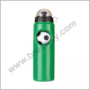 Green customized plastic sport bottle with football design BW-00152
