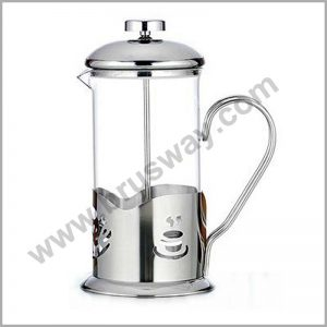 New Style 1000ml borosilicate glass electroplate coffee tea maker french press BW-00134
