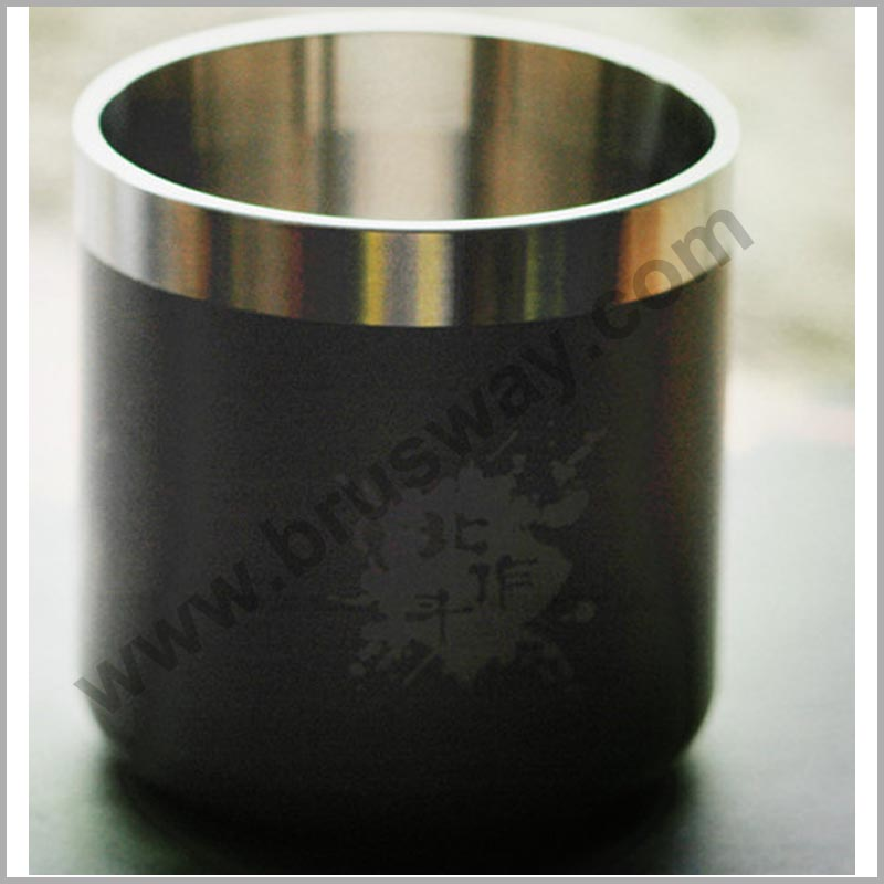 Titanium metal custom coffee travel cup BW-00111