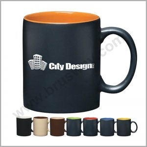 Unglazed ceramic coffee mug promotional mug BW-00101