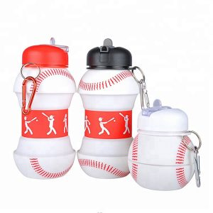 2018 Silicone Sleeve Sport Baby Folding Water Bottle
