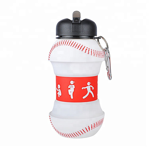 2018 Silicone Sleeve Sport Folding Baby Water Bottle