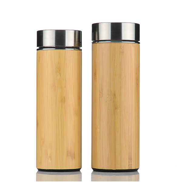 360ml 480ml Triple Wall Stainless Steel Bamboo Water Bottle
