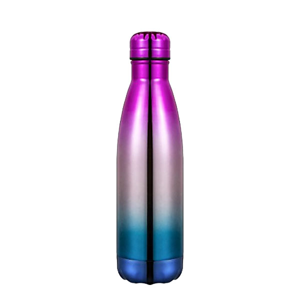Bright Vacuum Insulated Flask Stainless Steel Sport Water Cola Bottle