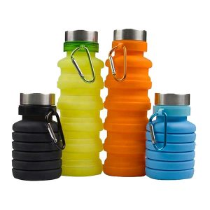 Eco-Friendly Flexible Foldable Silicone Water Bottle
