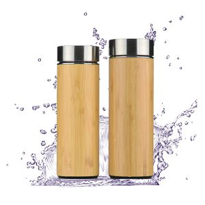 Triple Wall Stainless Steel Bamboo Water Bottle