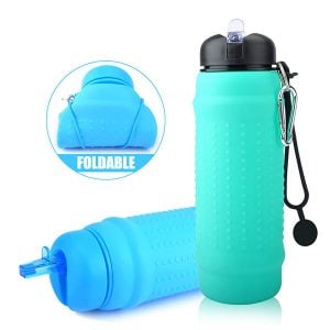 2018 Children Waterbottle Sports Drinking Collapsible Silicone Water Bottle 700ml (3)