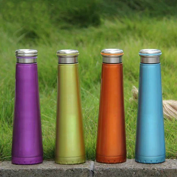 Double Layer Sports Cup Stainless Steel Insulated Vacuum Thermos Flask