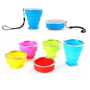 Silicone Collapsible Travel Cup Foldable Camping Cup 6.83oz 200ml