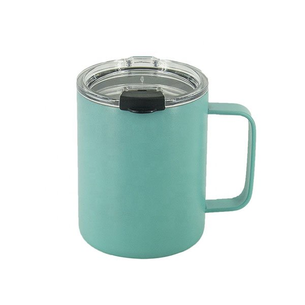 10 oz Insulated Travel Mug Double Wall Stainless Steel Vacuum Mug With Lid