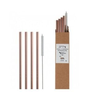 Customized Eco Reusable Stainless Steel Metal Drinking Straw