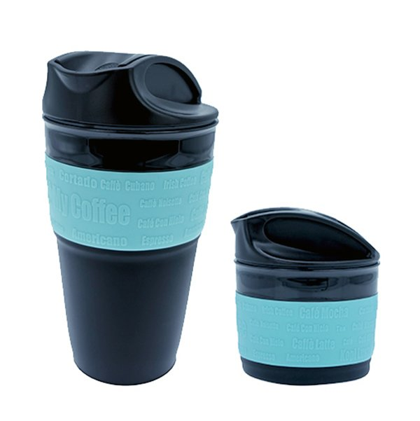 350ml Customised Coffee Plastic Coffee Travel Mug