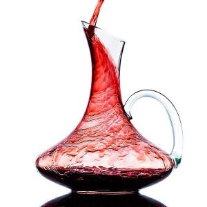 Crystal Glass Wine Decanter Wine Carafe with Handle