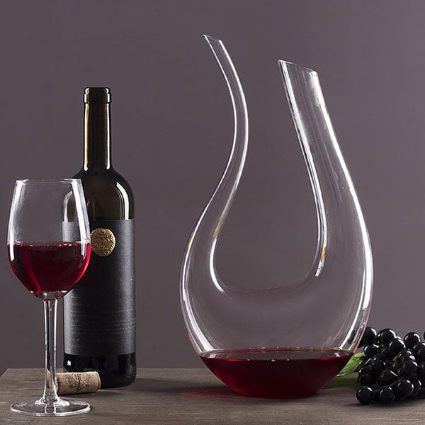 U Shaped Horn Wine Decanter Crystal Wine Aerator Carafe