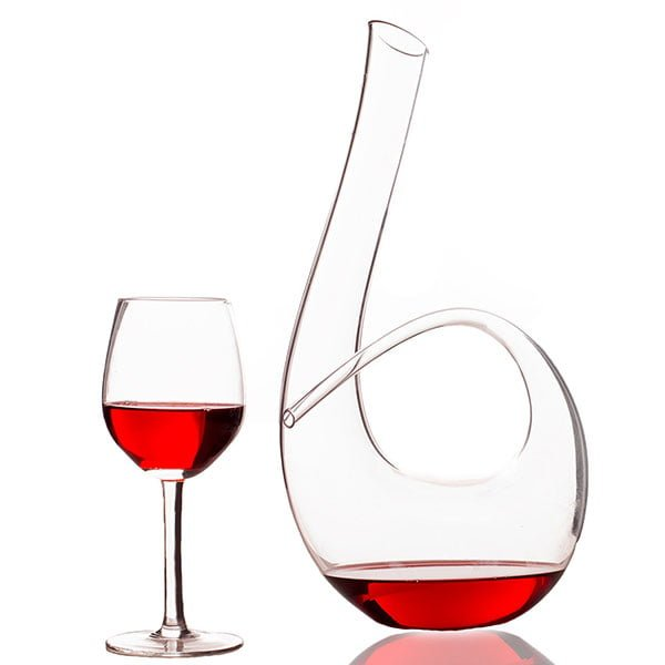 Wine Decant Instrument Shaped Crystal Glass Hand Made Wine Carafe